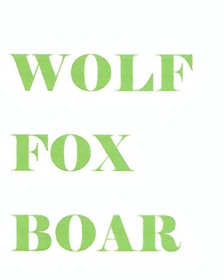 WOLF, FOX AND BOAR PUBLISHERS